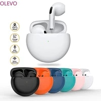 olevo pro6 tws wireless bluetooth headsets earphones noise cancelling headsets with microphone handsfree headphones for phone