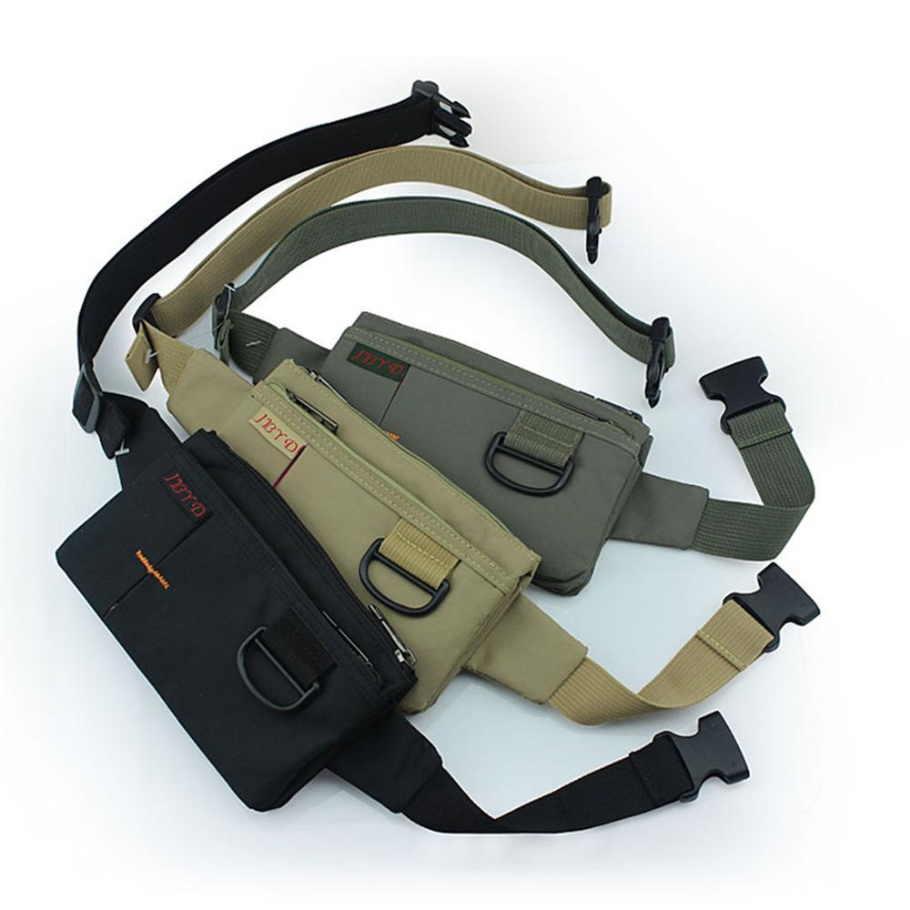 Unisex Anti-theft Slim seyahat kılıfı cep telefonu para Sling göğüs kalça Bum kemer bel fonksiyonlu Fanny omuz paketleri