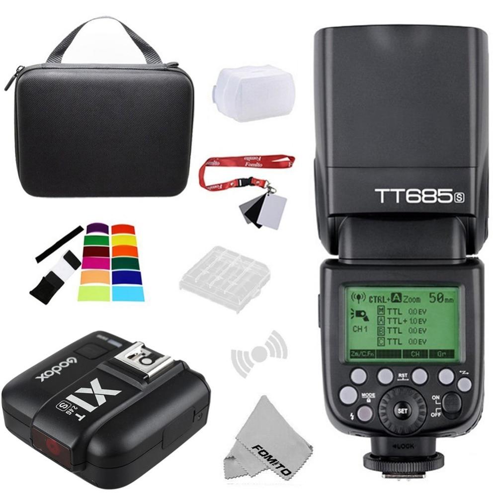 Godox TT685S HSS 1/8000S GN60 Flash TTL Speedlite 0,1-2.s reciclar tiempo con X1T-S 2,4G TTL inalámbrico disparador de Flash para Sony
