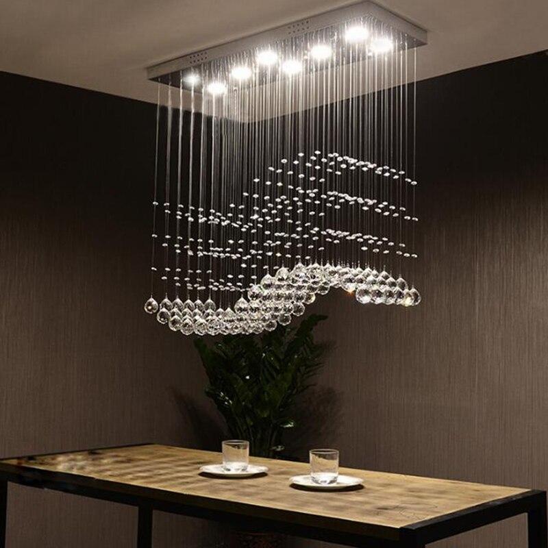 Manggic Kristall Kronleuchter Moderne Esszimmer Kristall Kronleuchter LED Restaurant lichter wohnzimmer lampe