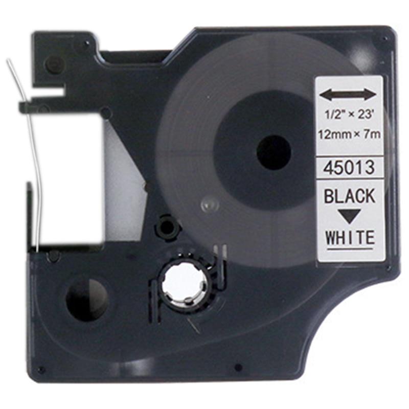 10 Uds compatibles para DYMO D1 45013 D145013 negro sobre blanco 12Mm x 7M Compatible para impresoras de etiquetas DYMO Ltera