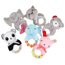 Newborn Baby Rattle Toys Cartoon Animal Baby Soft Plush Rattle Mobile Bell Hanging Toy Infant Toddle
