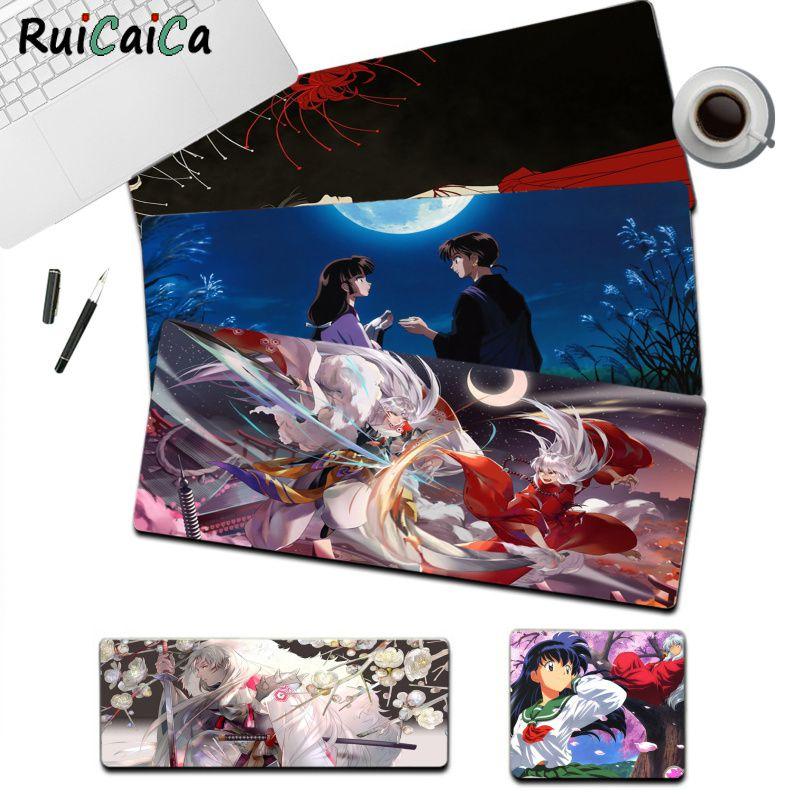 RuiCaiCa Inuyasha Аниме коврики большого размера s DIY пользовательский коврик для мыши Размер для большой кромки Блокировка скорости версия игровой...
