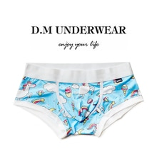 Fruit Pink Peach Blue Unicorn Sexy Gay Men's underwear Male Underpants Comfortable Breathable low wa