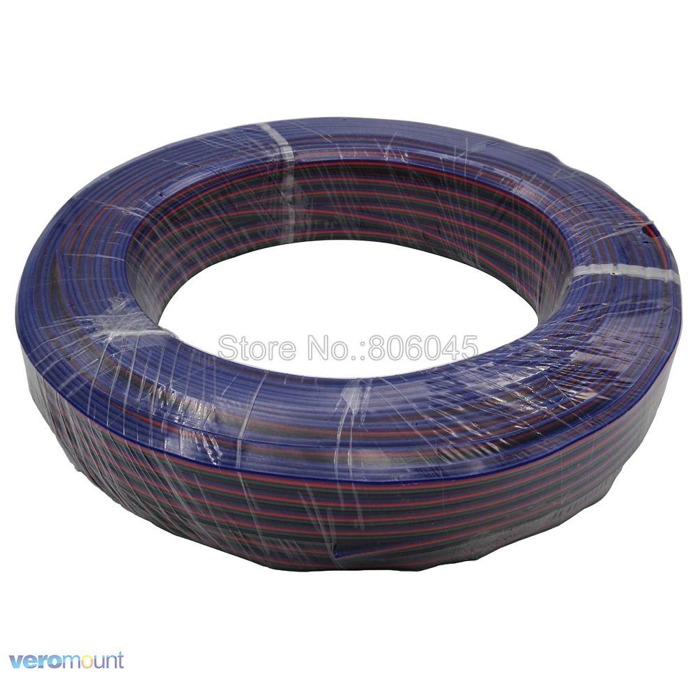 1-100m 4-Pin 4Pin RGB Erweiterung Draht Kabel Stecker LED Acceossories 22AWG Gekippt Kupfer Isolierte PVC draht RGB LED Streifen Licht