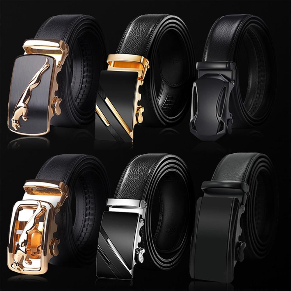 AliExpress - 2020 High Quality belt cummerbunds Male Men Belt Automatic Genuine Leather Luxury Black Belt Men's Belts Automatic Buckle