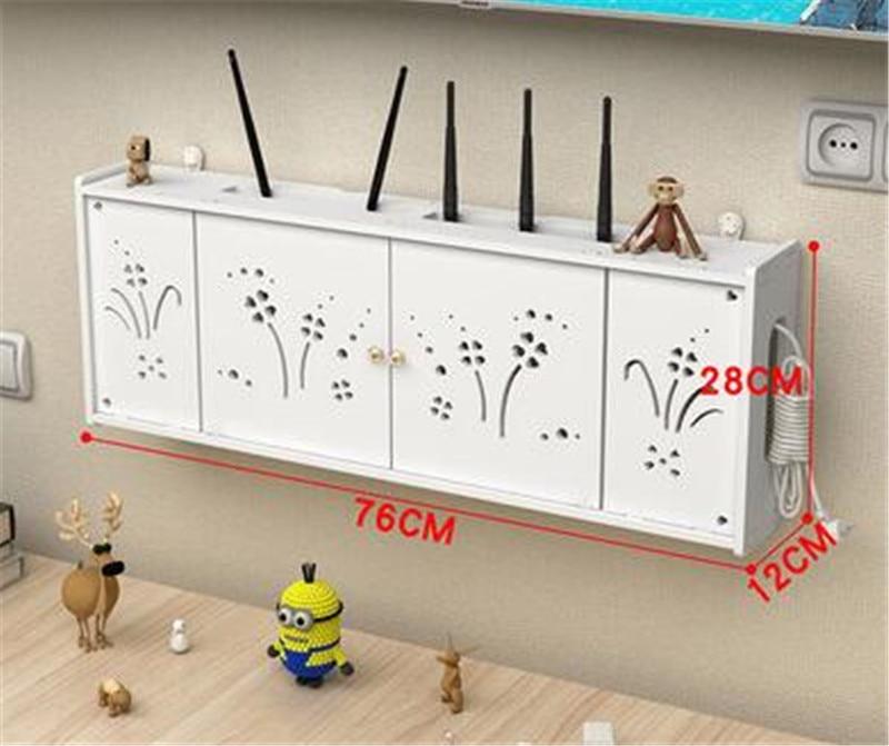 Caja de almacenamiento enrutador inalámbrico, enchufe para habitación wifi, TV montada en pared con diseño de gato sonriente, Wifi inalámbrico, caja enrutadora de PVC, estante de pared Ha