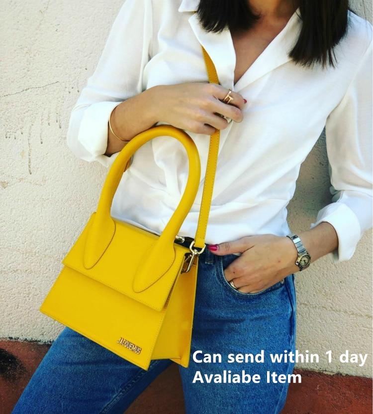Jacquemus High Quality Leather Messenger Bag for Female Handbag Tote Vintage Crossbody Bag Clutch Purse Women Shoulder Bag Brand