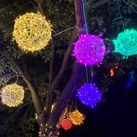 fashion rattan lamp sepak string lamp takraw lantern night lamp string rope lamp for christmas party house bar decorations