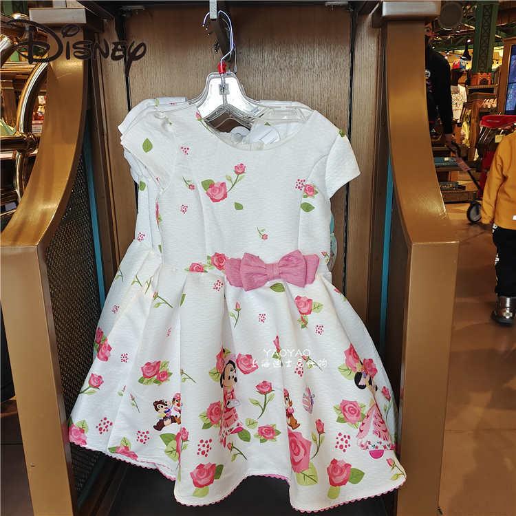 Disney Easter Minnie Cute Child Girl Princess Dress Girls' Summer Dress Children's Clothing woman skirts Cartoon Ball Gown