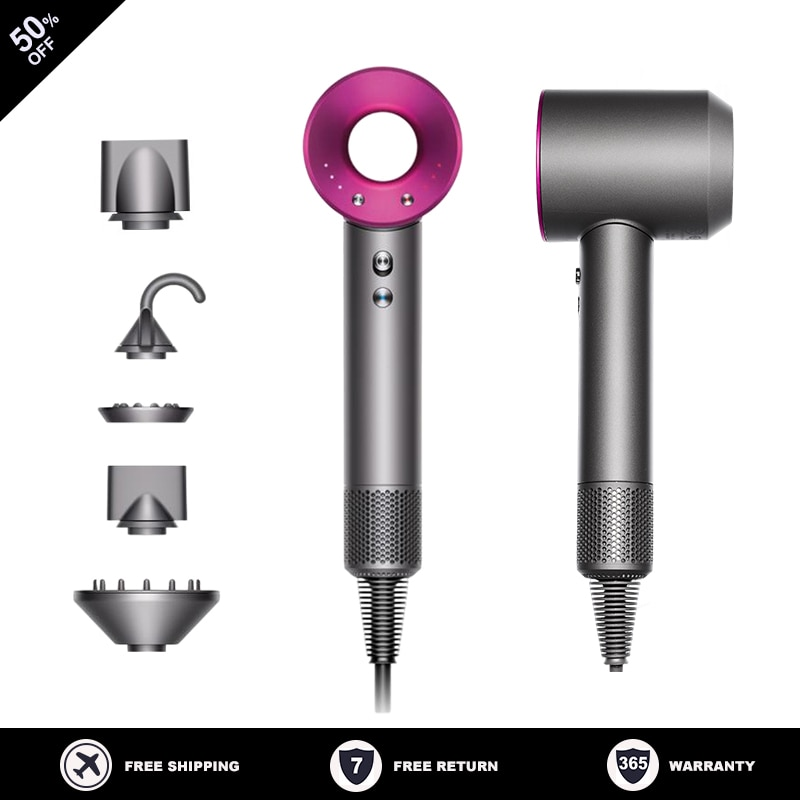 5 in 1 Professional Hair Dryer Strong Wind Salon Blow Dryer Negative Inoic Hot &Cold Air Wind Styler Hairdryer Salon Dryer