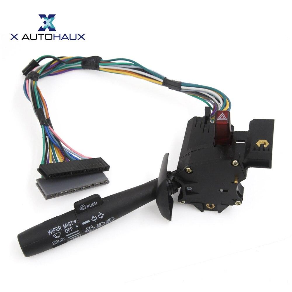 X autohaux pára-brisas limpador alavanca blinker turn signal switch 26083628 para chevy para chevrolet astro express captador c3500 caminhão