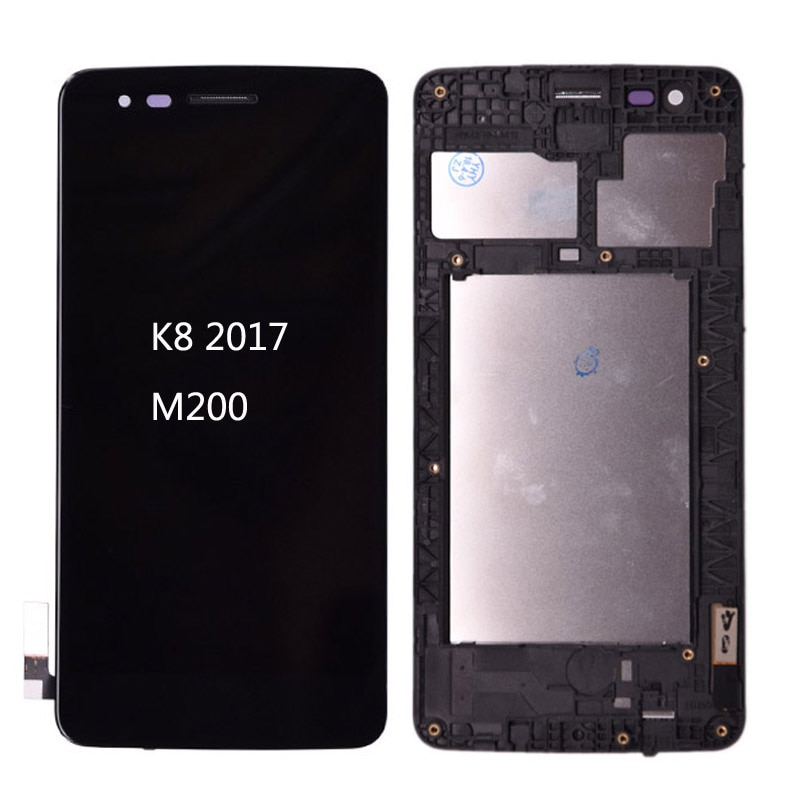 100% Original M210 LCD para LG K8 2017 M200 M210 US215 pantalla LCD Digitalizador de pantalla táctil y el marco de montaje completo MS210 lcd