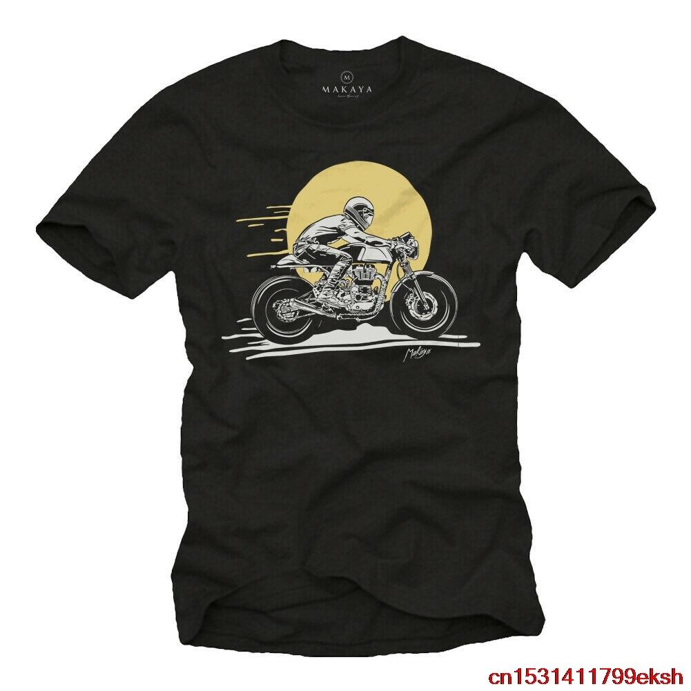 Motorrad camiseta Herren schwarz - Druck Enfield Cafe Racer GT Royal Continental