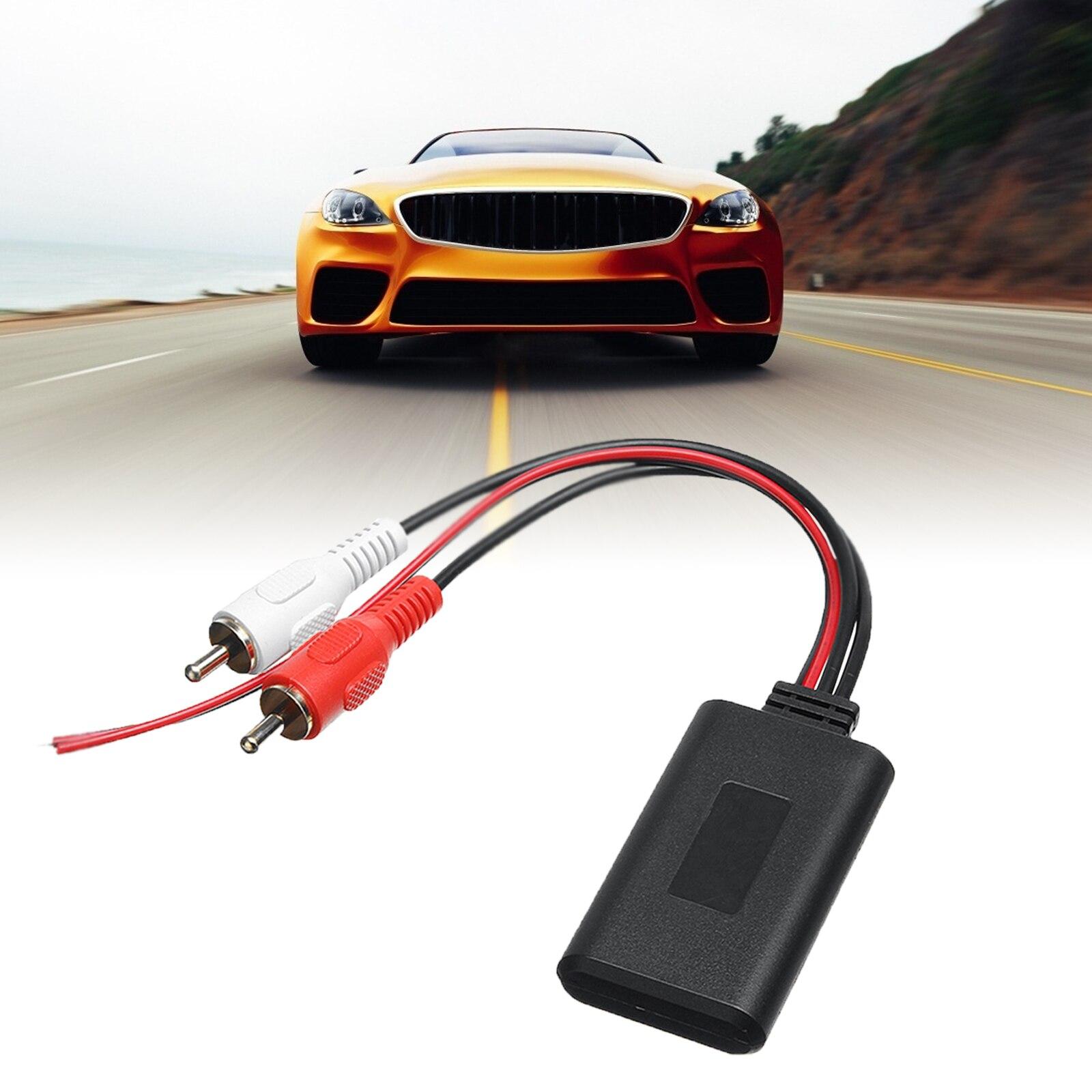 Автомобильный Универсальный беспроводной Bluetooth модуль музыкальный адаптер Rca Aux аудио кабель автомобильный аудио адаптер автомобильный вн...