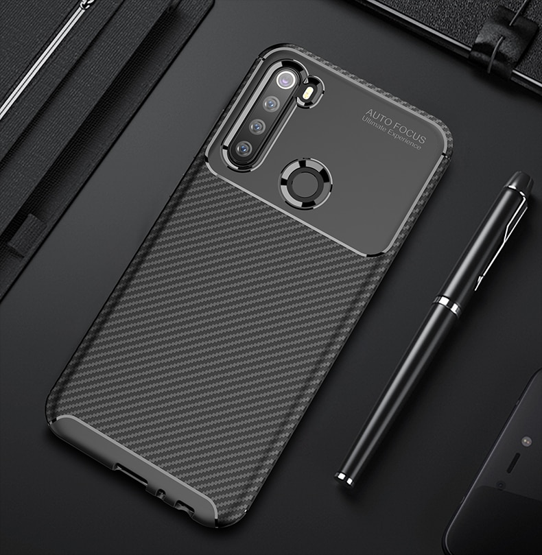Funda para Xiaomi Mi Note 10 Pro funda ultrafina para Xiaomi Redmi Note 8T 9S 9 8 Pro Max Mi A3 10 Lite fundas de fibra de carbono