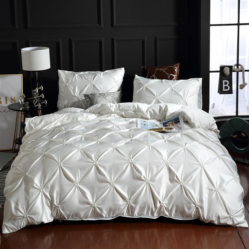 Lovinsun طقم سرير فاخر طقم سرير كوين المعزي لحاف الملك مجموعة غطاء UO01 #