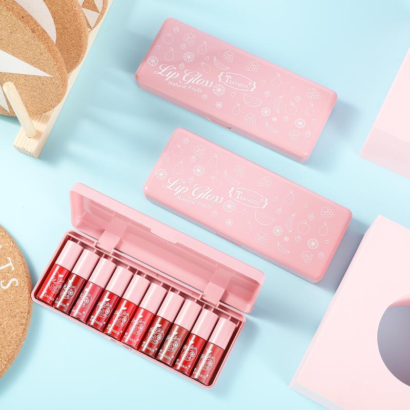 Women Makeup  Jelly Lip Waterproof Multifunction Lip Gloss Tint Dyeing Liquid Lipgloss Blusher Long
