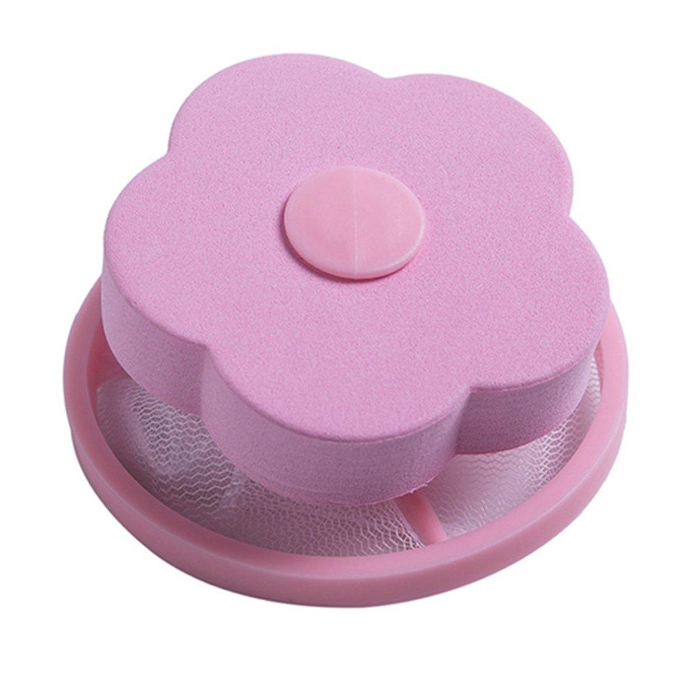 Bolsa de filtro para lavadora, removedor de pelo, bola de lavado para lavandería, Red de lavandería redonda en forma de ciruela