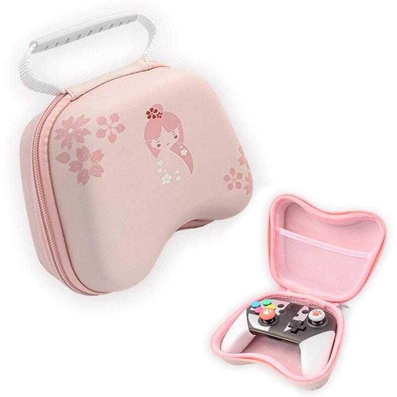 Sakura Pink interruptor de mando de juegos funda bolsa impermeable cubierta dura caja de Shell bolso de mano portátil para Nintendo Switch Pro PS4 Xbox controlador