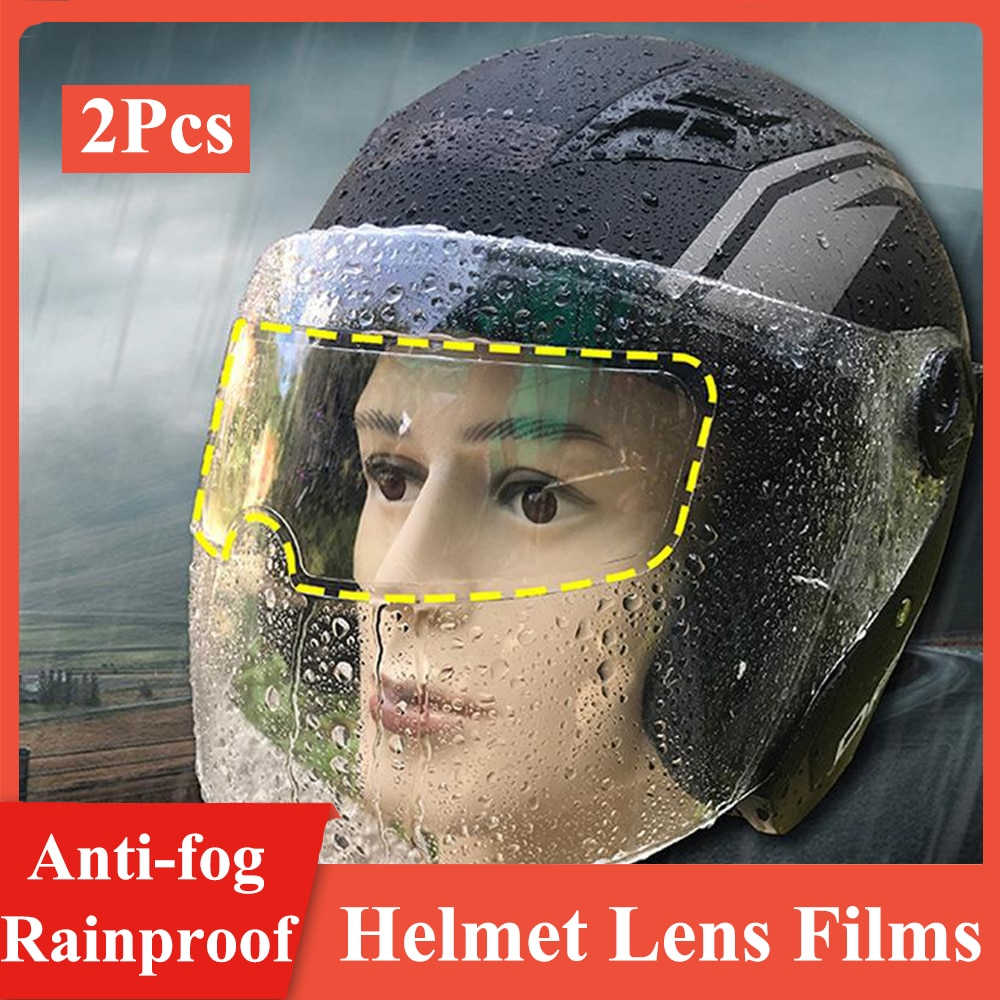 Universal 3 Types Anti-fog Rainproof Helmet Films Clear Anti-rain Film Anti Fog Motorcycle Helmet Len Films for K3 K4 AX8 LS2 MT tarkovsky films stills polaroids