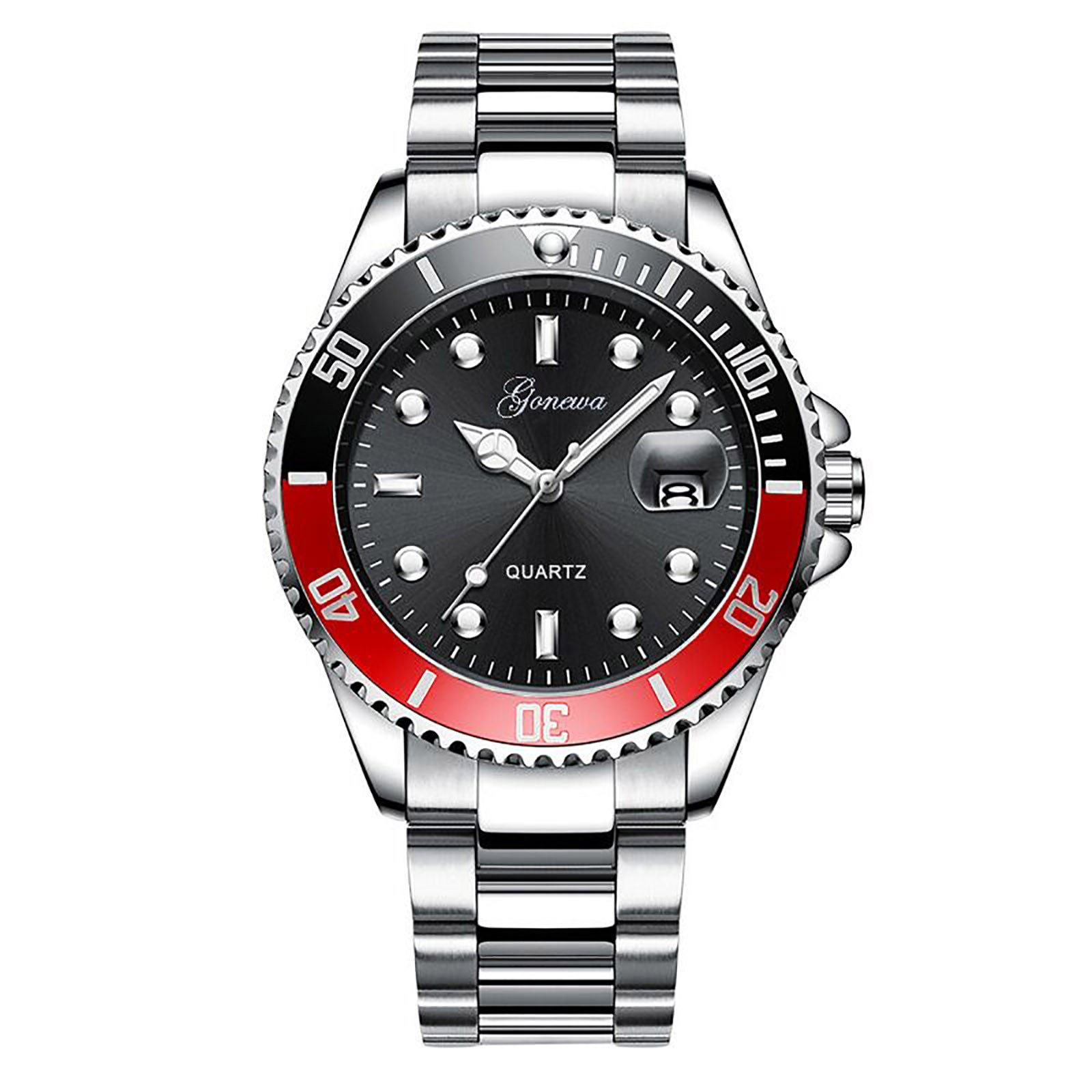 Watch For Man Quartz Calendar Stainless Steel Strap Hand Clock Analog Wrist Delicate Alloy Watch Lux