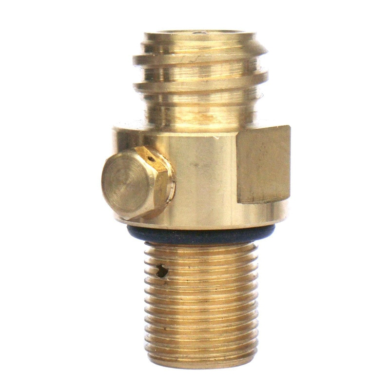 Válvula de pasador de latón para tanque de CO2, válvula de Gas para inflar agua de Soda, piezas DEC889