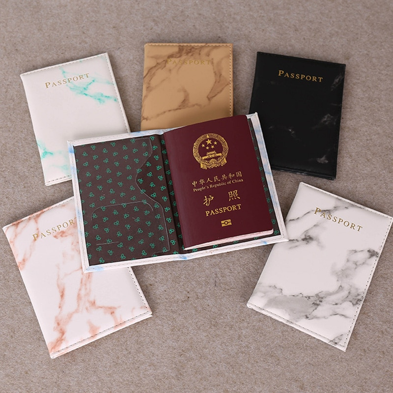 Hot Polychromatic Stamp Passport Cover Travel pu printing Card Case For Men Women Capa Cartoon No Zipper card holder card cover
