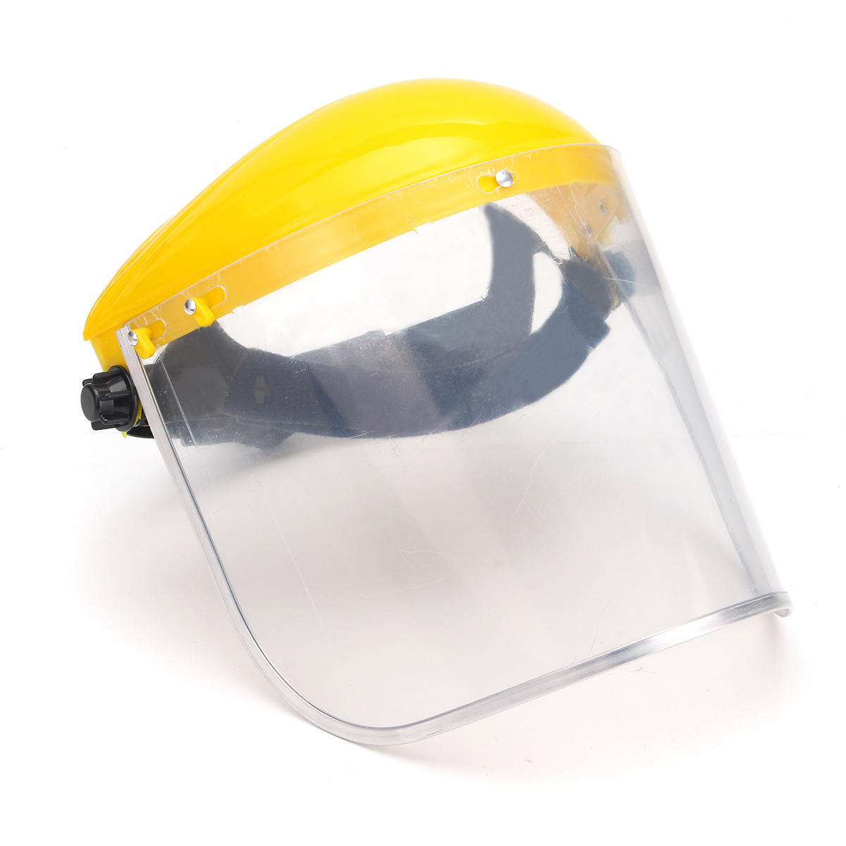 Clear Mesh Full Visor Flip Up Face Shield Screen Safety Mask Eye Protector Helmet Yellow