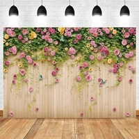 wedding photography backdrop bridal shower floral wood board wall photo booth background studio flowers photocall photo shoot