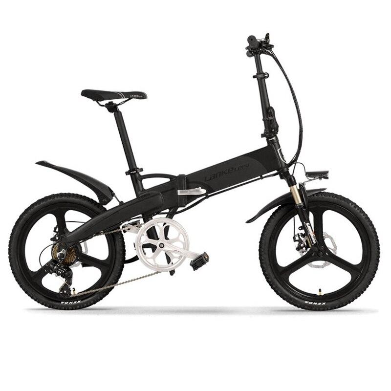 Lankeleisi g660 bicicleta elétrica dobrável 400w 20 polegada bicicleta elétrica 48v 13ah escondida bateria pedal auxiliar dobrável ebike elétrico