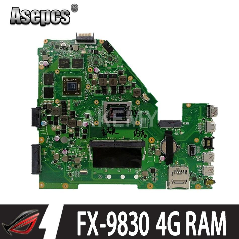 Para For Asus x550i x550ik x550iu notebook computador portátil placa mãe mainboard 2gb placa gráfica 4g ram FX-9830 cpu