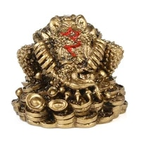 resin feng shui toad luck fortune ornament home office business decorative craft