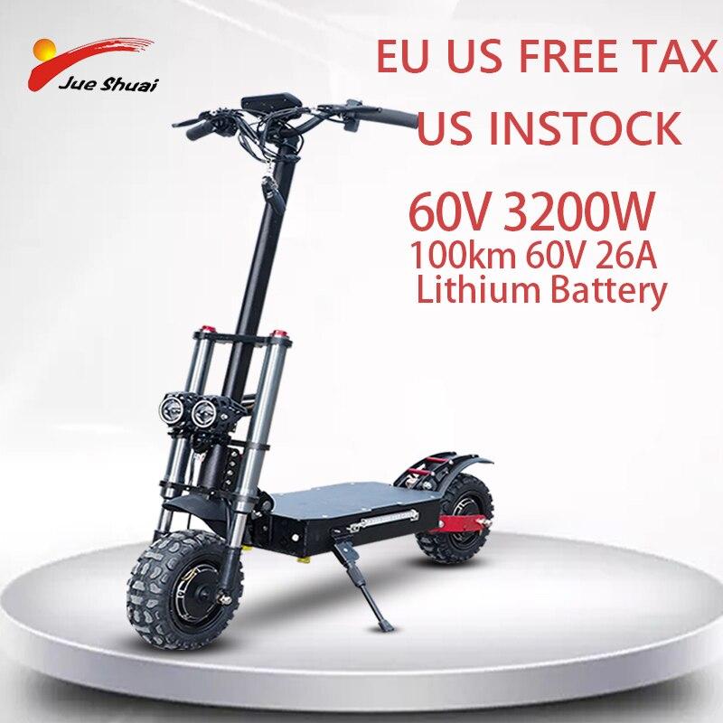 Patinete eléctrico plegable con asiento para Adulto, 60V, 3200W, 80 KM/H, rueda...
