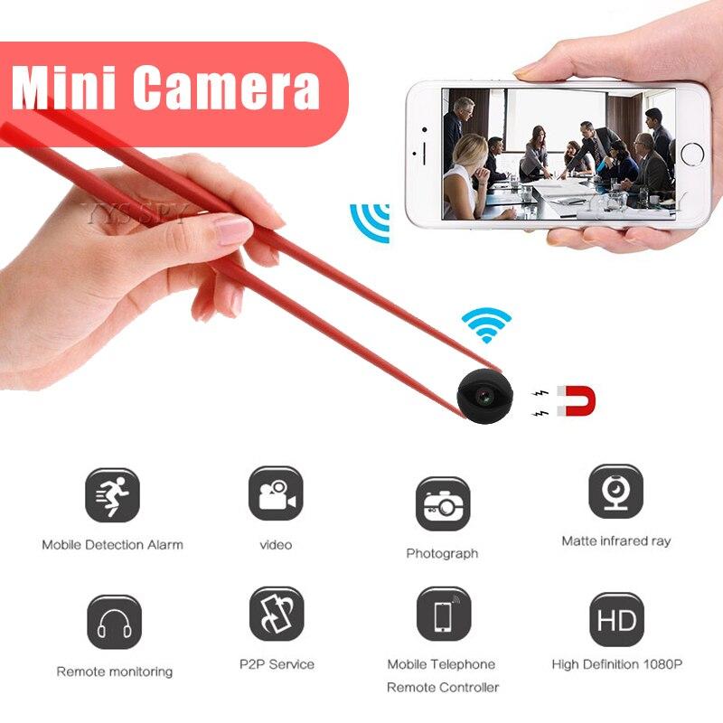 Minicámara HD Wifi, videocámara de visión nocturna, cámara Gizli CCTV, videovigilancia del...