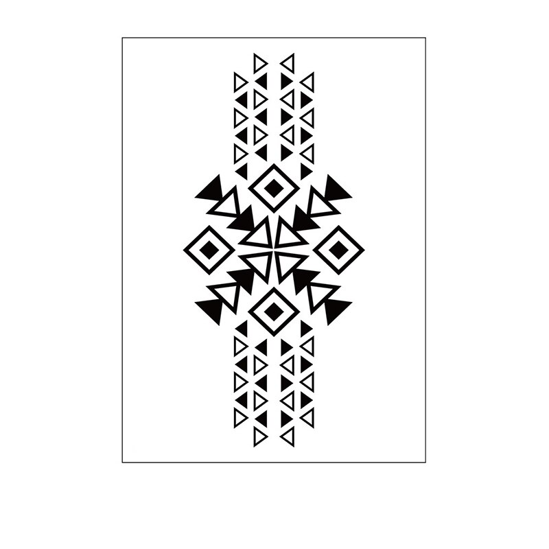 Temporary Tattoo Sticker Triangle Arrow Totem Geometric Pattern Waterproof Fake Body Art Tatoo for Kids Girl Boy Man Woman
