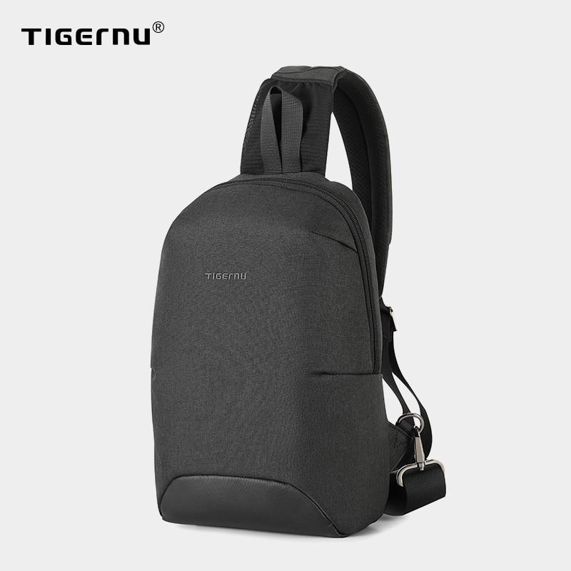 2021 New Tigernu RFID Anti theft Chest Bags Waterproof Men Light Weight Crossbody Bag Male Chest Bag Fashion High Quality Zipper