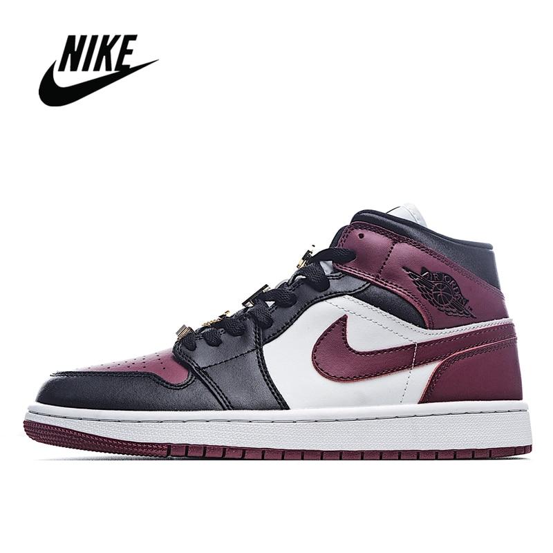 Zapatillas de baloncesto originales NIke Air Jordan 1 Mid 35 aniversario Color a juego para hombre y mujer talla 36-45 CZ4385 016