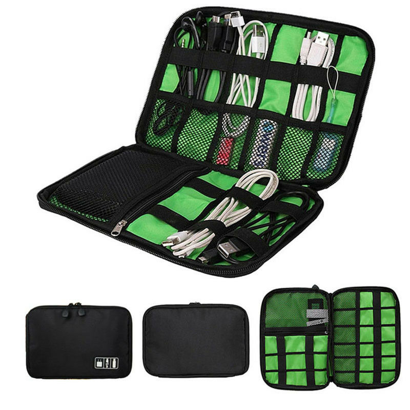 Travel Earphone Storage Bag Organizer Data Cable USB Flash Digital Drives Portable Case Waterproof B