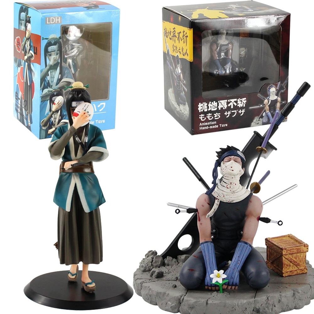Figuras shippuden de 20cm, haku zabuza momochi sete adornos com lâmina do executor, brinquedos modelo ld