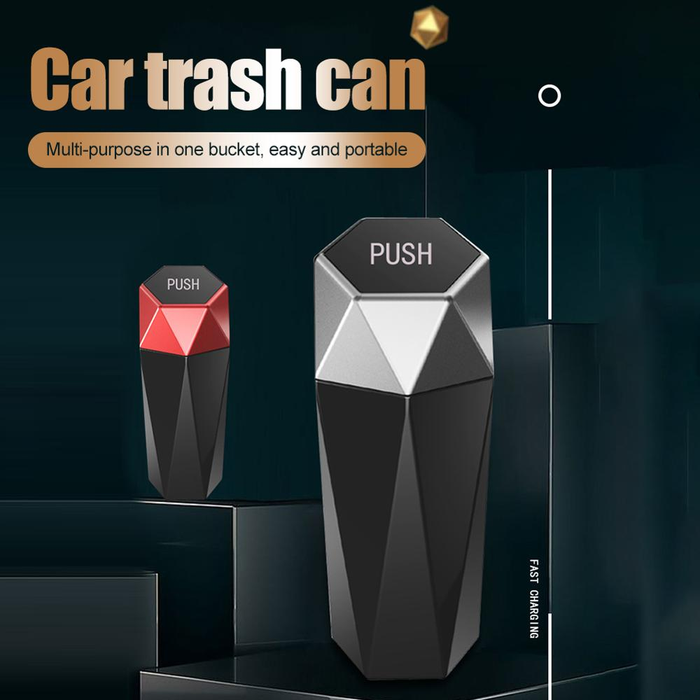 Car Trash Can Organizer Garbage Holder Automobiles Storage Bag Accessories Bin Ashtray Dust Case Hol