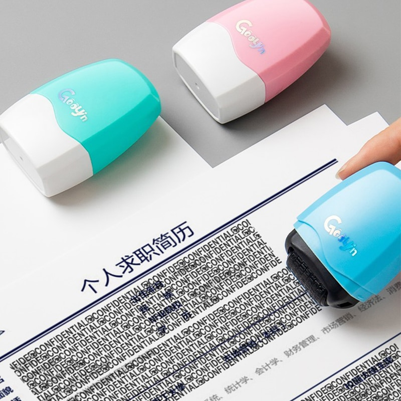 Роликовый штамп, рабочий код, фотороликовый портативный самостоятельный роликовый штамп для защиты личных данных от кражи