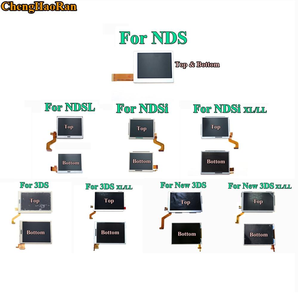 Piezas de Repuesto inferior superior y superior inferior pantalla LCD para Nintend DS Lite/NDS/NDSL/NDSi nuevo 3DS le XL para Nintend interruptor