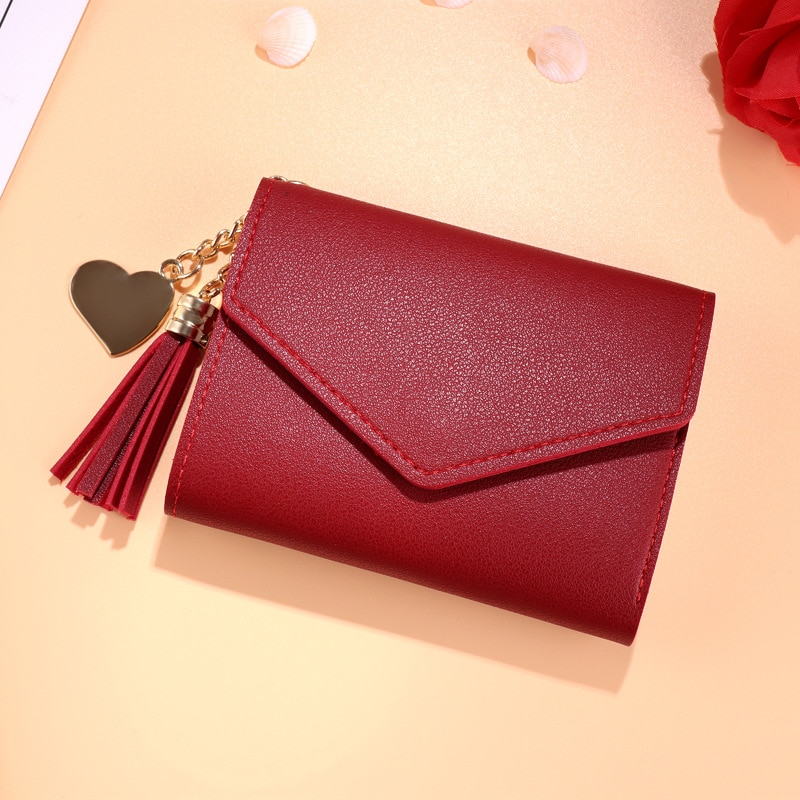 Mini Tassel Wallet Women Fashion Purse Female Short Mini Wallets Korean Students Lovely Purse Female