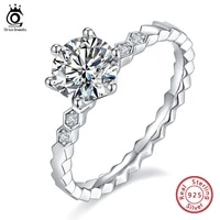 orsa jewels 1 0 carat d e color moissanite diamond classic wedding ring 925 sterling silver for women engagement jewelry smr64