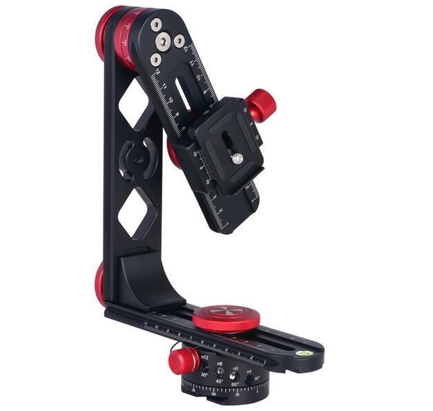 المهنية DSLR كاميرا سبائك الألومنيوم 720 درجة بانورامية Gimbal كرة ثلاثية الرأس