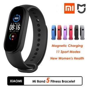 Fitness Bracelet Xiaomi Mi Band 5 Fitness Bracelet Miband 5 Remote Camera Function fitness Tracker Smart Band 5 Xiomi Watch 5