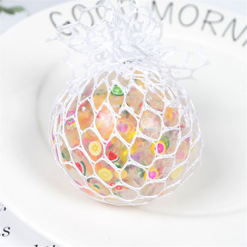 6cm Funny Fruit Slice Anti-Stress Squishy Ball Grape Squeeze Toy 4X7C enlarge