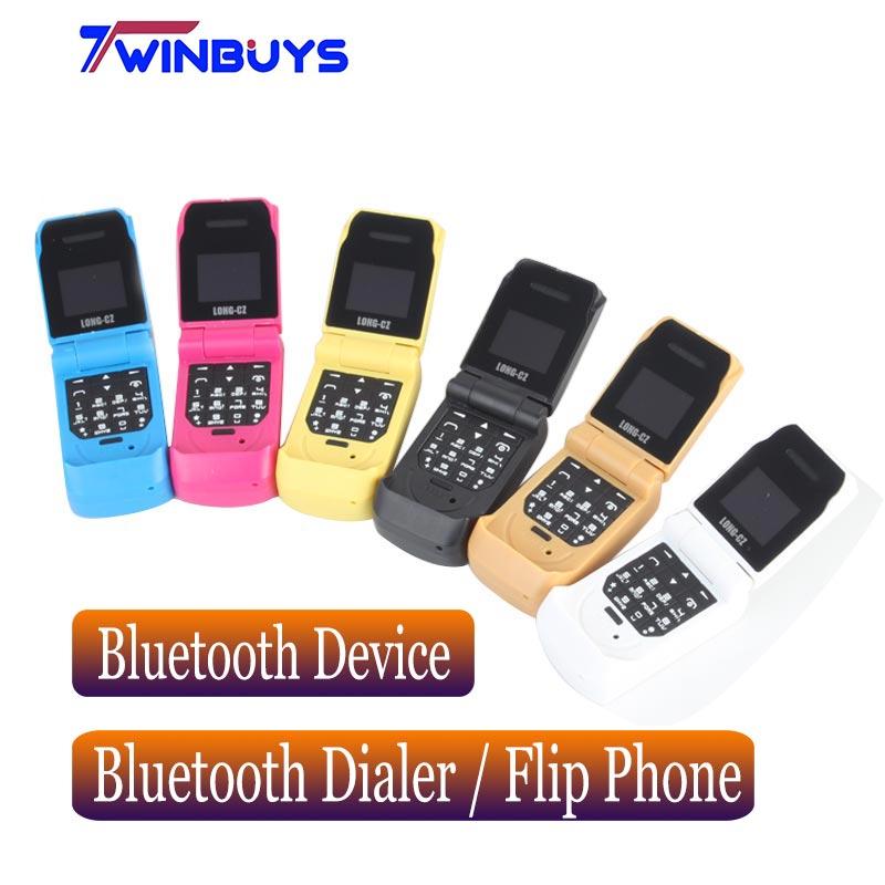 Pequeños teléfonos móviles con tapa LONG-CZ J9 Bluetooth inalámbrico con manos libres BT música FM Radio SOS mini niños teléfonos móviles
