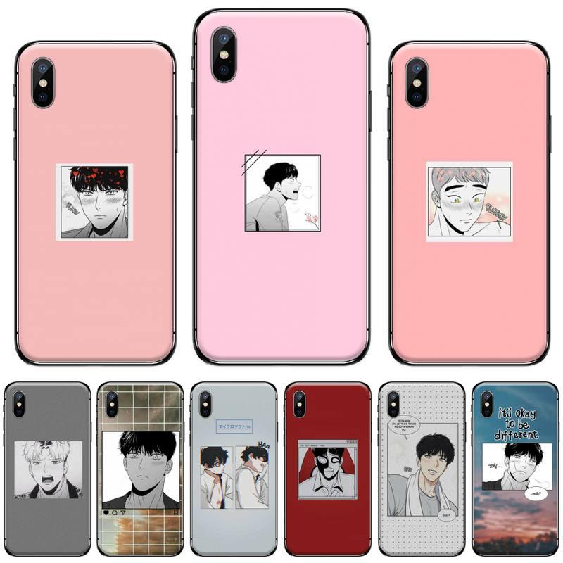 Bj alex Koreanische Manga homosexuell Coque Shell Telefon Fall für iPhone 11 12 pro XS MAX 8 7 6 6S Plus X 5S SE 2020 XR funda hull weiche shell